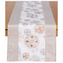 CHEMIN DE TABLE CHRISTMAS AZULI WHITE 170X45CM