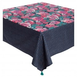 NAPPE RECTANGULAIRE POMPONS ROSEA MIDNIGHT 170X250CM