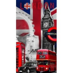 DRAP DE PLAGE LONDON BIG BEN 95x175cm