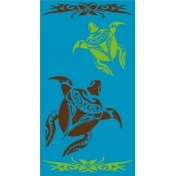 DRAP DE PLAGE COUPLE DE TORTUES MARINES