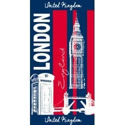 DRAP DE PLAGE LONDON JACQUARD 90 X 175 CM