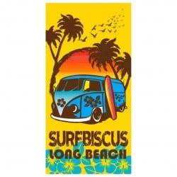 DRAP DE PLAGE COMBI SURF 75x150cm jaune