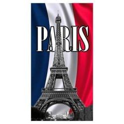 DRAP DE PLAGE TOUR EIFFEL PARIS 75x150cm