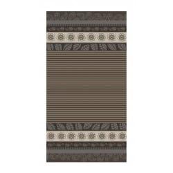 DRAP DE PLAGE CASHEMIRE GRIS JACQUARD 95x175cm