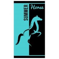 DRAP DE PLAGE BLUE HORSE JACQUARD 95x175cm