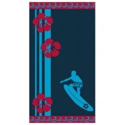 DRAP DE PLAGE BLU SURFER JACQUARD 95 x 175 cm