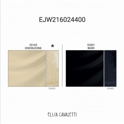 PANTALON MOIRE NERO Elisa Cavaletti EJW216024400DIN